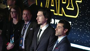 Oscar Isaac and Adam Driver at Movie Premiere